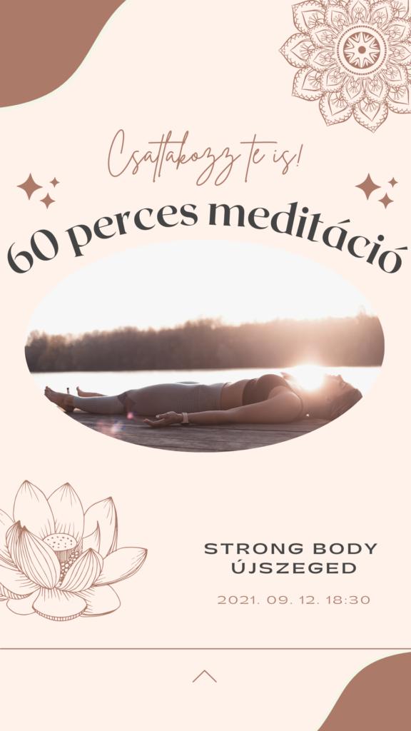 60 perces meditáció